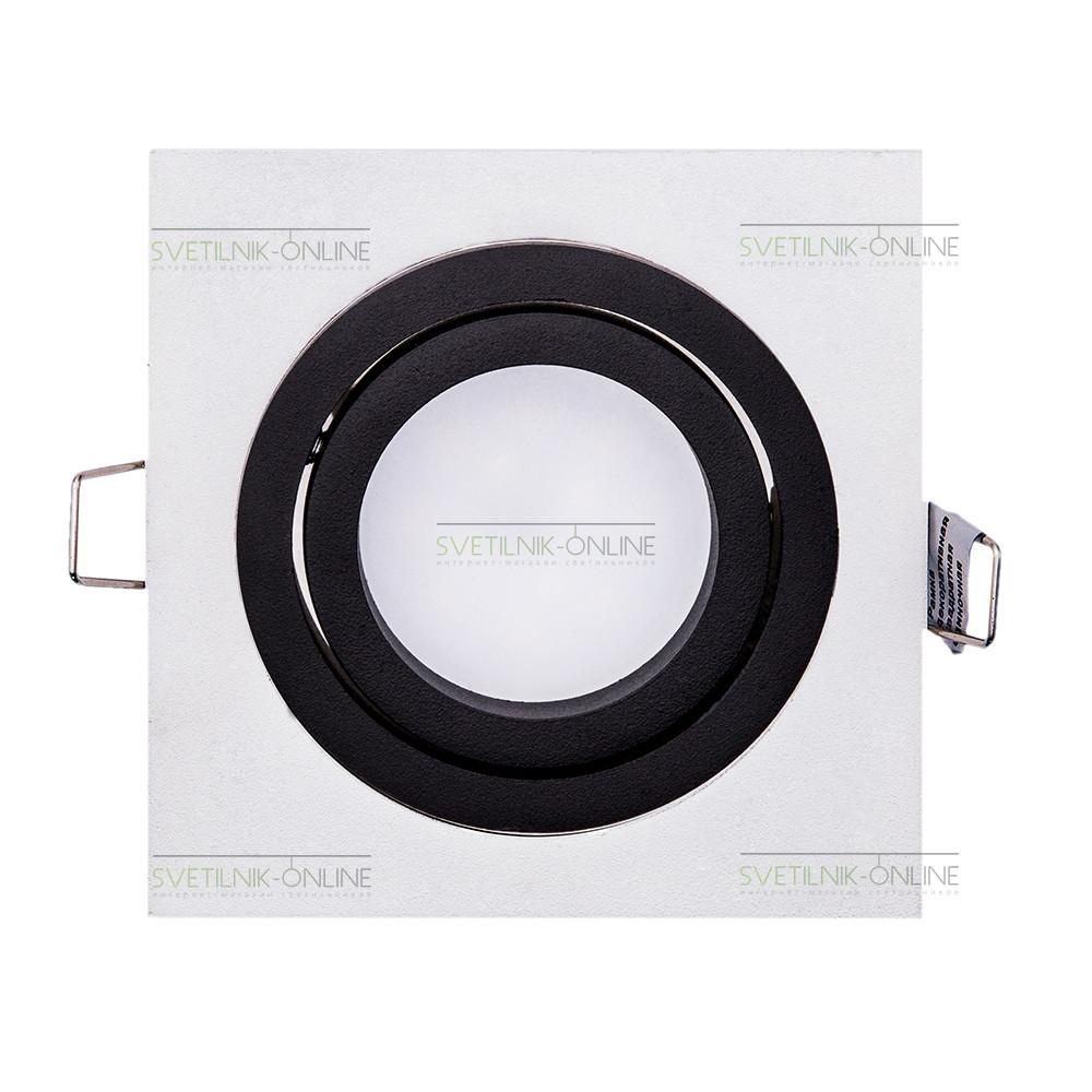 Точечный светильник Lightstar Lightstar Intero 16 Quadro Черный с белым одна лампа от svetilnik-online