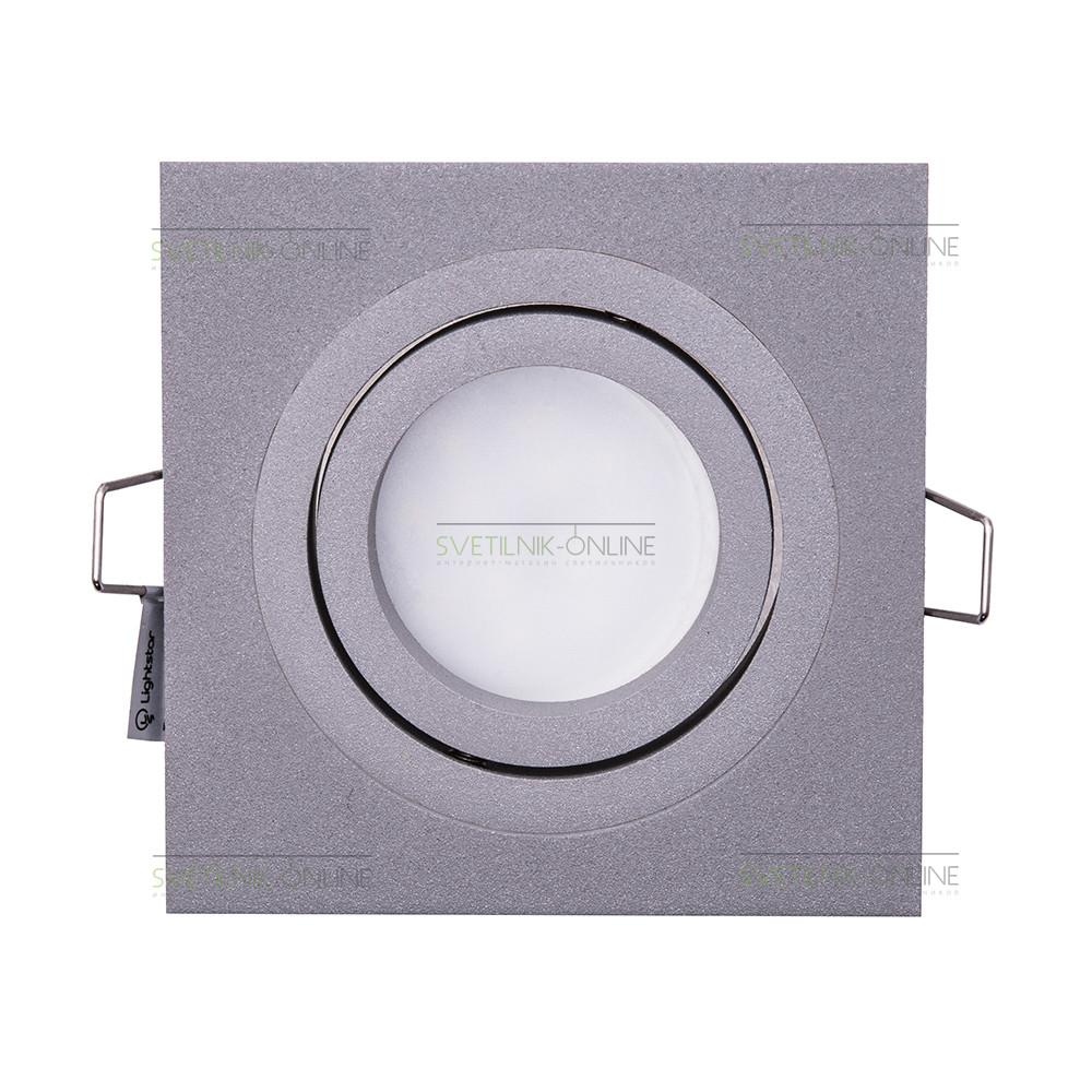 Точечный светильник Lightstar Lightstar Intero 16 Quadro Серый одна лампа от svetilnik-online