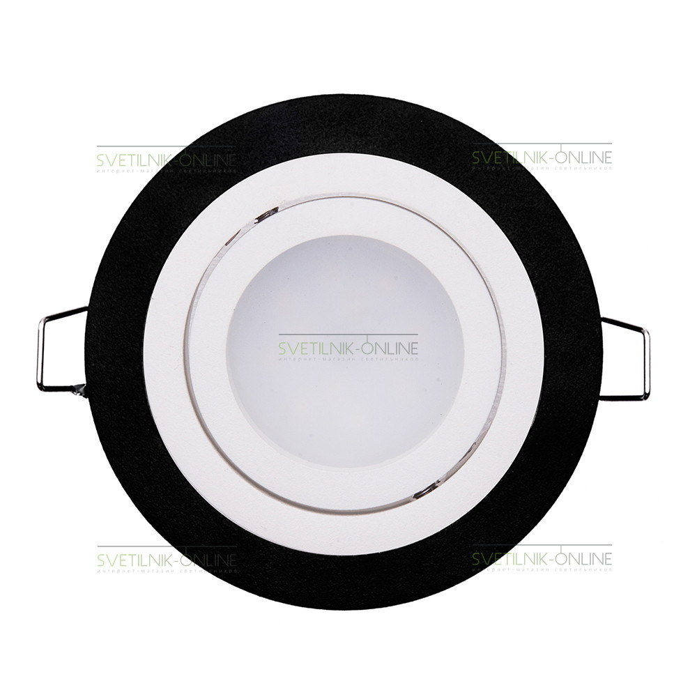 Точечный светильник Lightstar Lightstar Intero 16 Round Белый с черным одна лампа от svetilnik-online