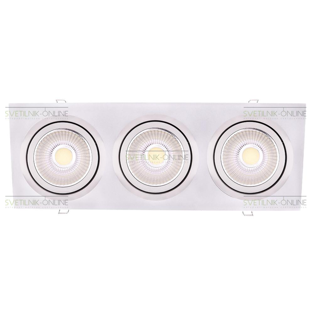 Точечный светильник Lightstar Lightstar Intero 111 Quadro Белый три лампы от svetilnik-online