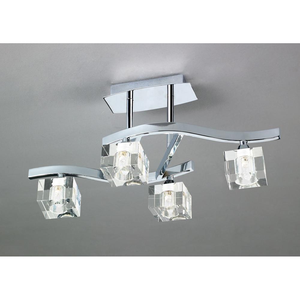 Светильник потолочный Mantra Cuadrax Cromo Optico 0967Светильник потолочный Mantra Cuadrax Cromo Optico 0967<br>