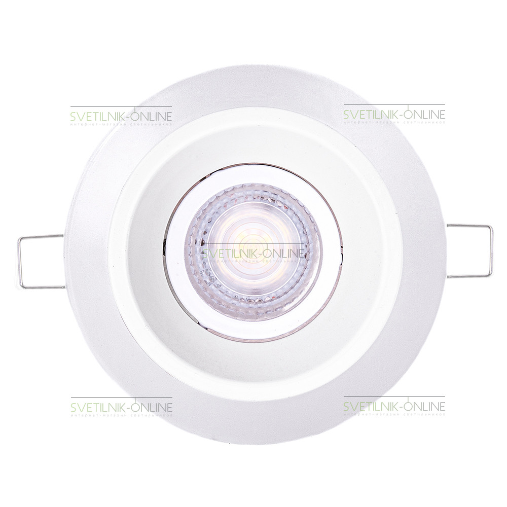 Точечный светильник Lightstar Lightstar Domino Round MR16 Белый одна лампа от svetilnik-online
