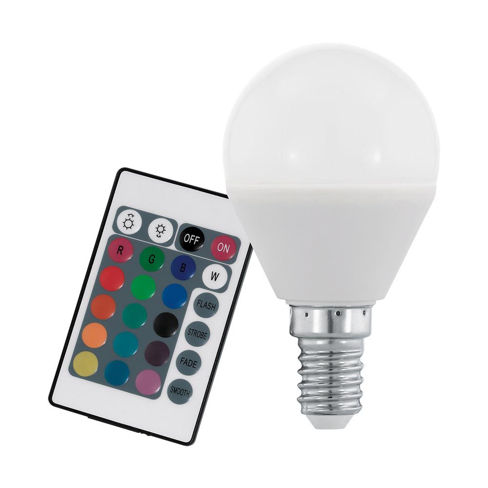 Купить Диммируемая светодиодная лампа Eglo P45 E14 4W (соответствует 40W) 300Lm 3000К (теплый белый) + RGB 10682