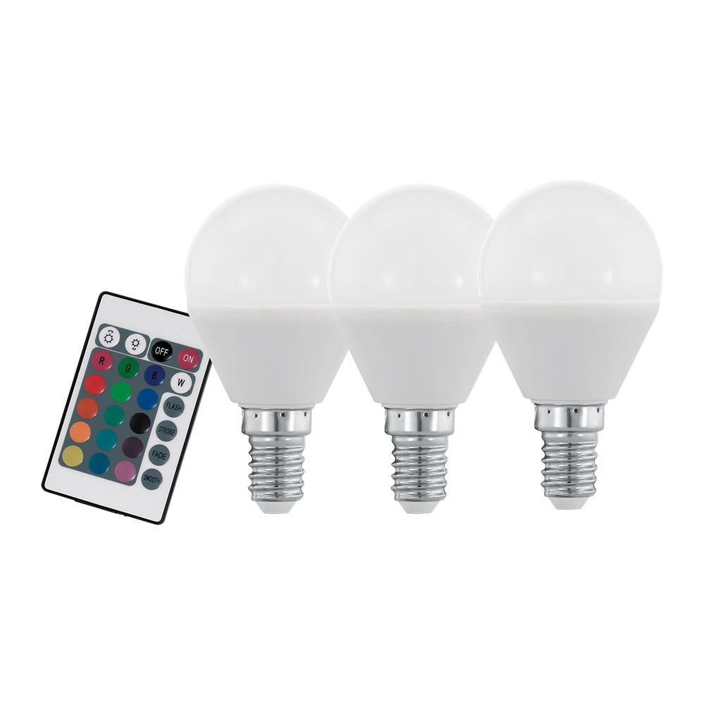 Купить Диммируемая светодиодная лампа Eglo P45 E14 4W (соответствует 40W) 300Lm 3000К (теплый белый) + RGB 10683
