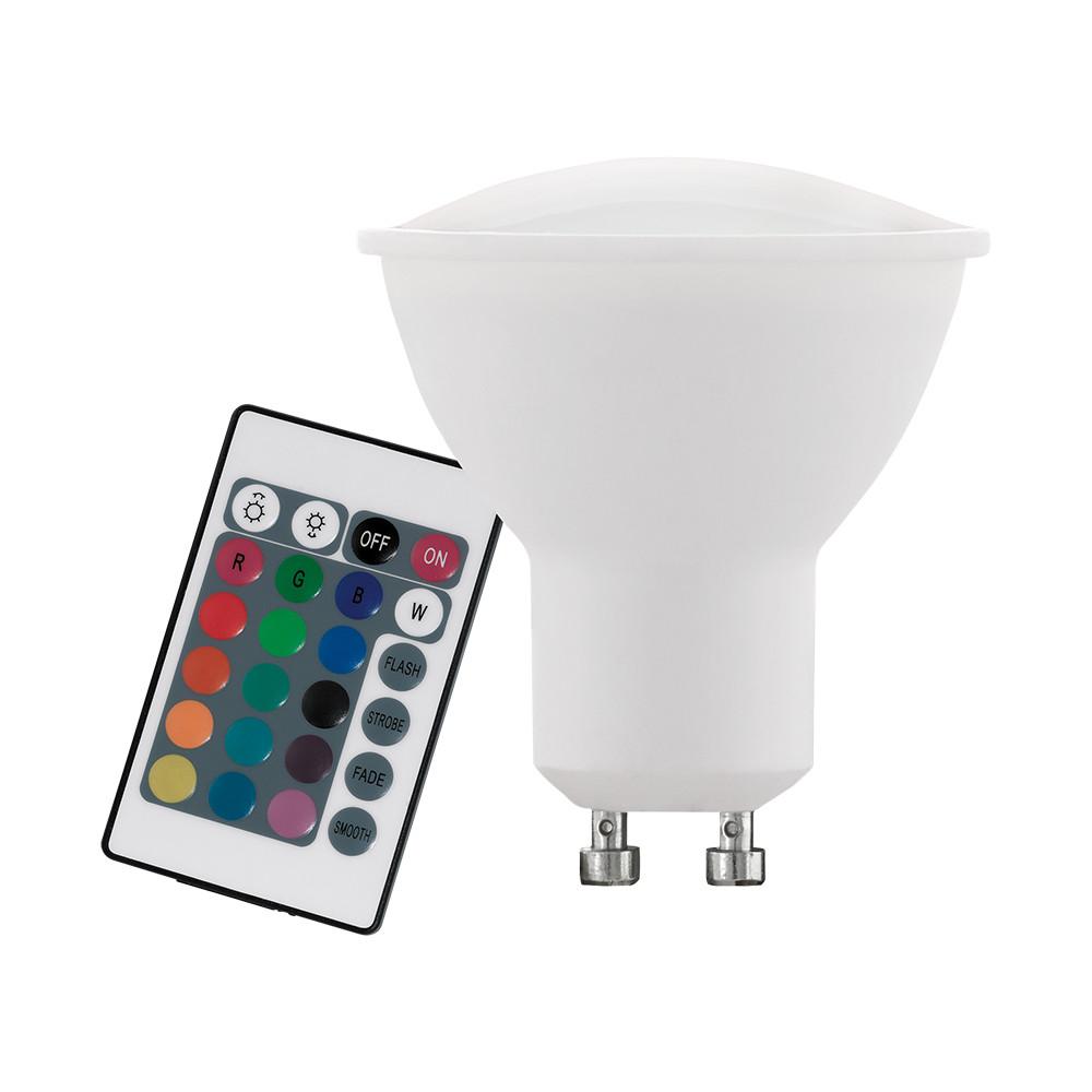 Купить Диммируемая светодиодная лампа Eglo GU10 4W (соответствует 40W) 220Lm 3000К (теплый белый) + RGB 10686