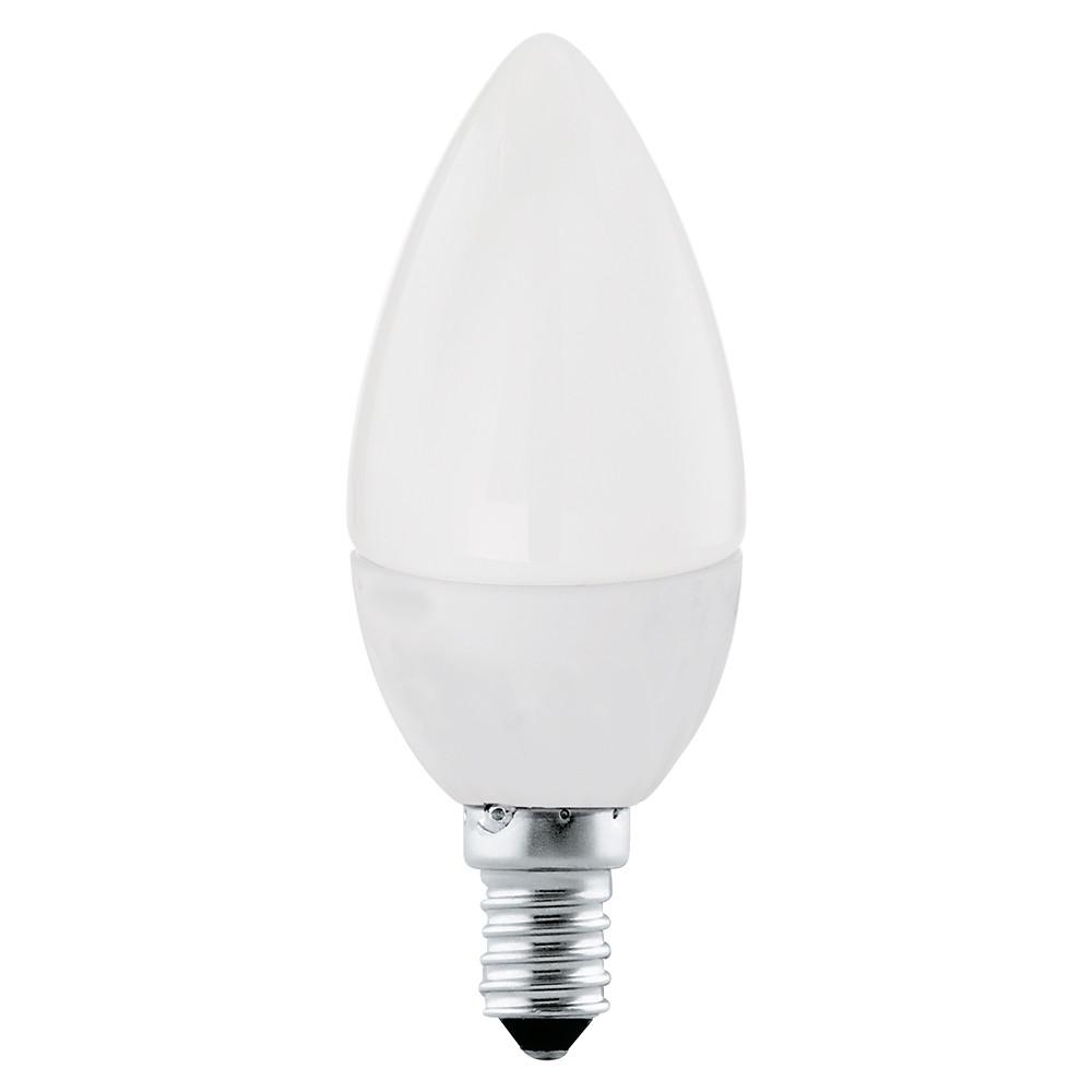 Лампочка Eglo Светодиодная лампа свеча Eglo E14 4W (соответствует 40W) 320Lm 4000К (белый) 10766 от svetilnik-online