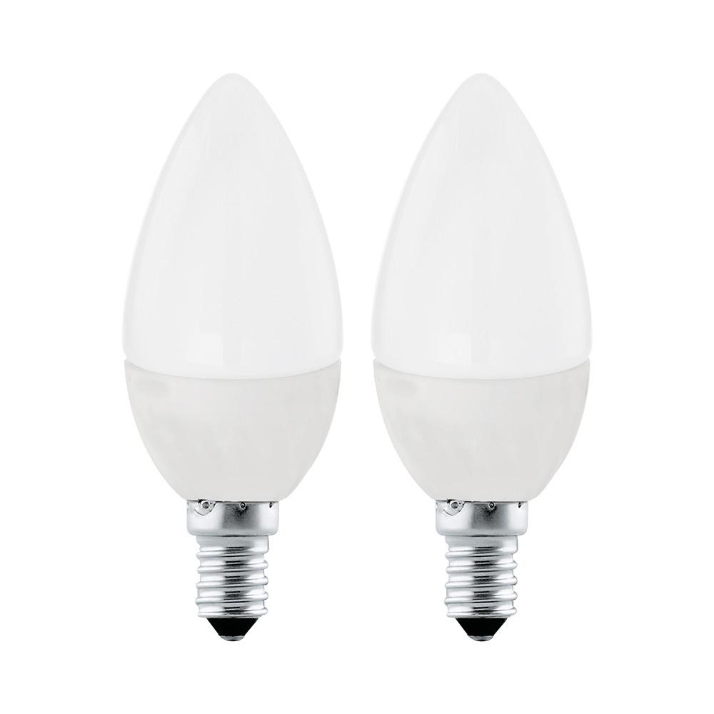 Купить Светодиодная лампа свеча Eglo E14 4W (соответствует 40W) 320Lm 3000К (теплый белый) 10792