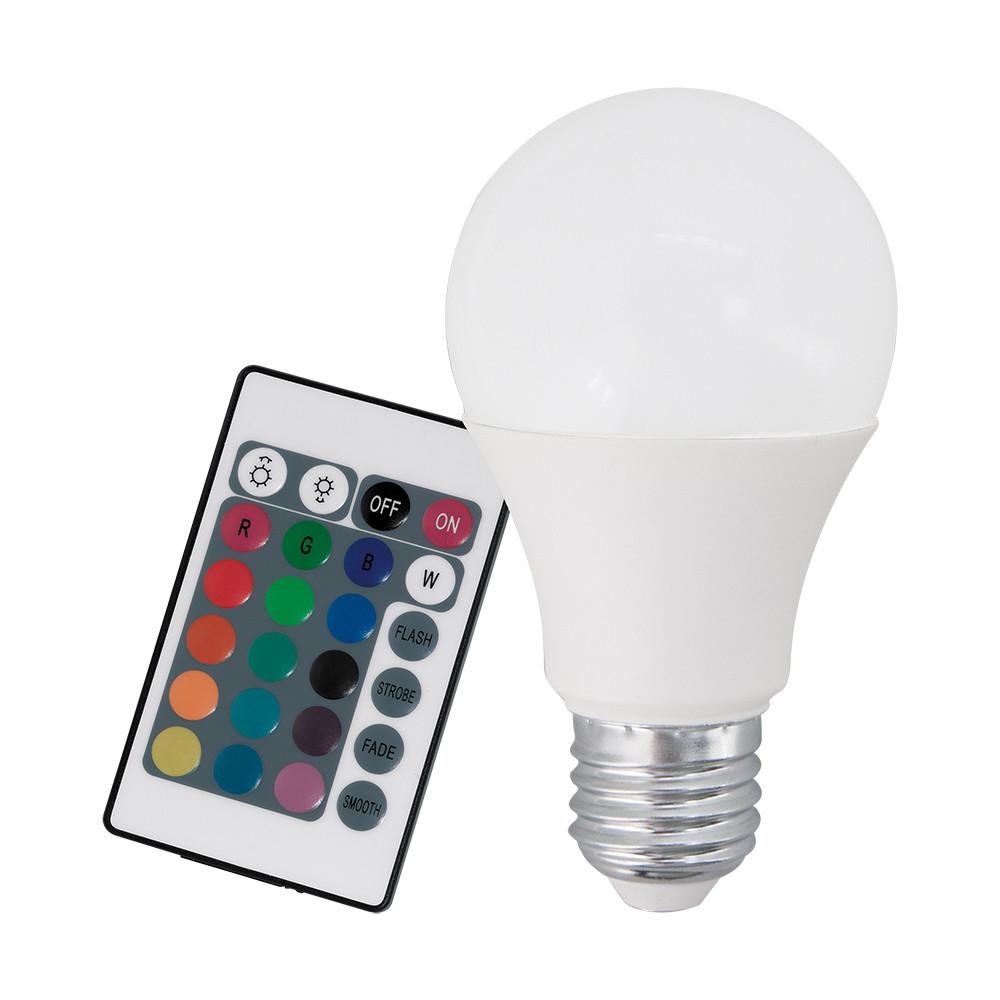 Купить Диммируемая светодиодная лампа Eglo A60 E27 7.5W (соответствует 75W) 470Lm 3000К (теплый белый) + RGB 10899