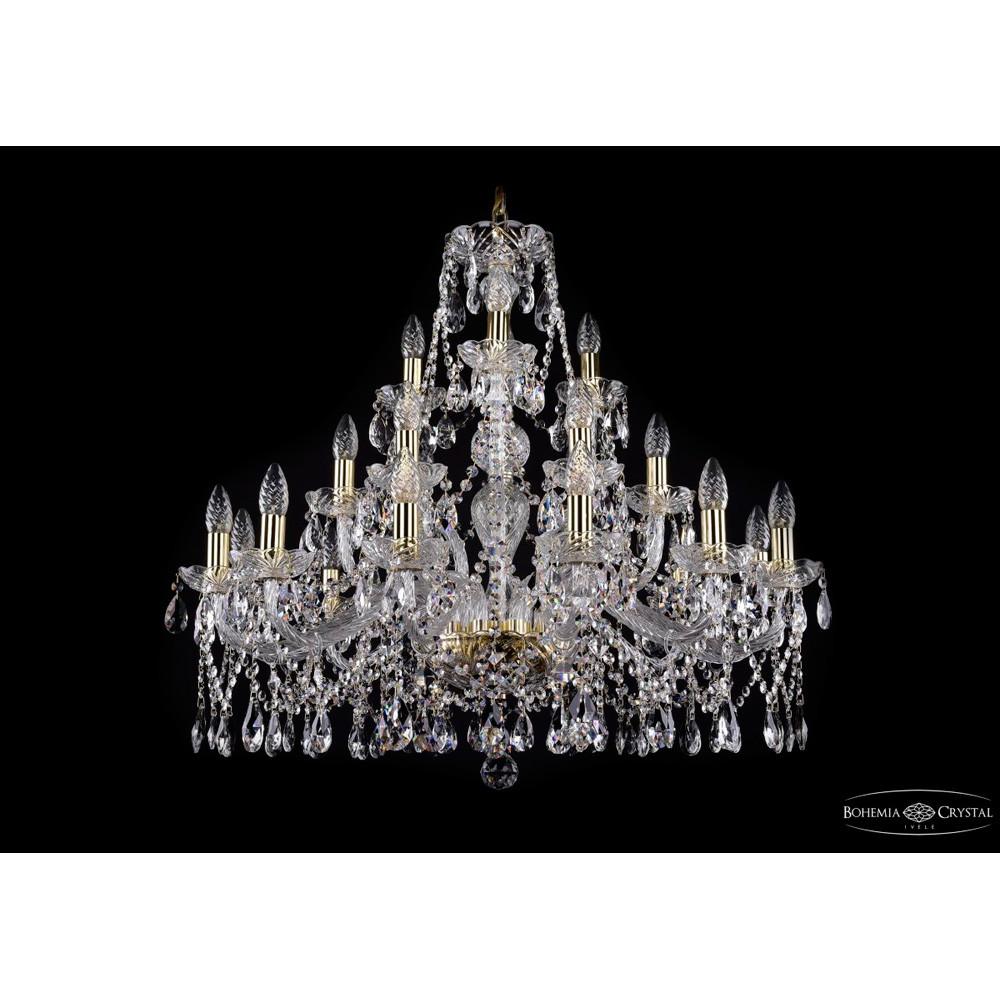 Светильник (Люстра) Bohemia Ivele Crystal 1413/12+6+3/300/GСветильник (Люстра) Bohemia Ivele Crystal 1413/12+6+3/300/G<br>