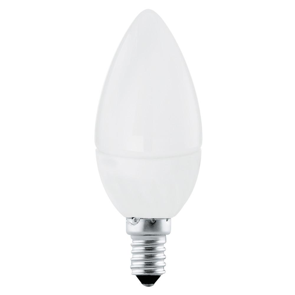 Купить Светодиодная лампа свеча Eglo 220V E14 4W (соответствует 40 Вт) 320Lm 3000K (теплый белый) 11421