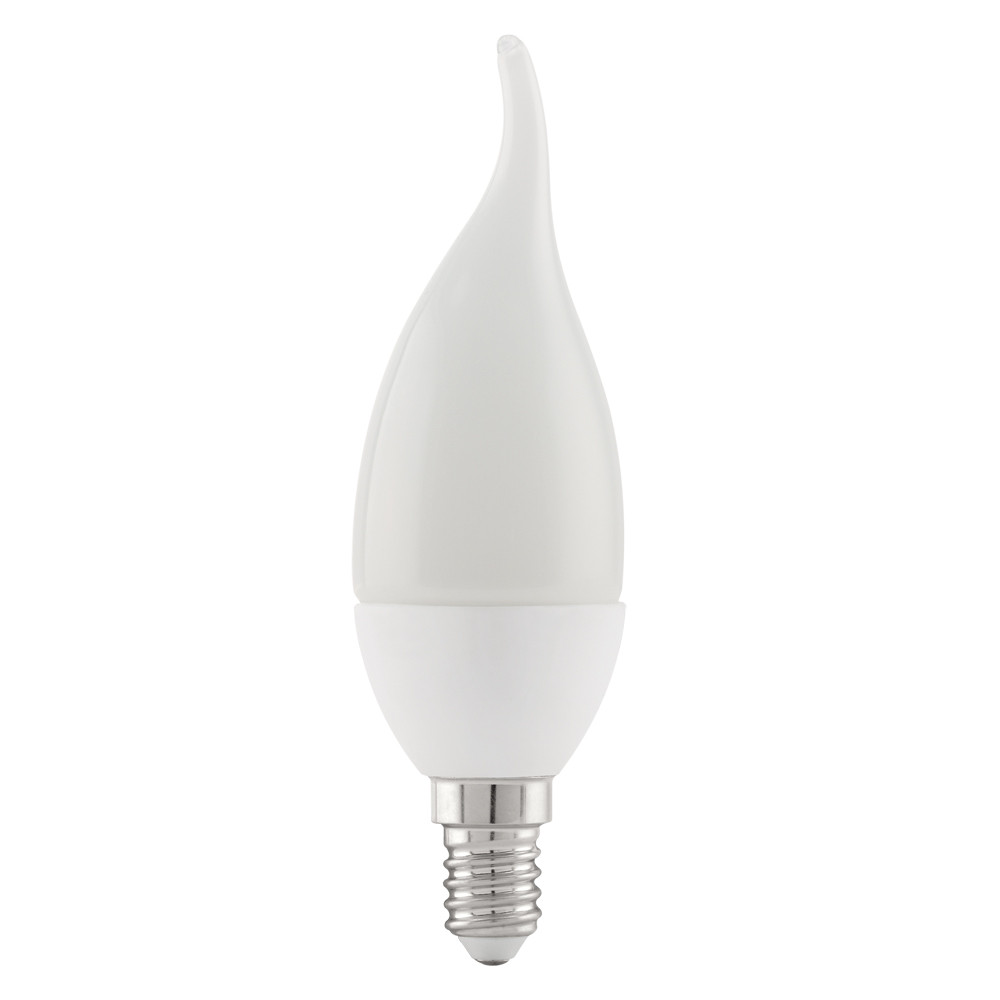 Купить Светодиодная лампа свеча на ветру Eglo 220V E14 4W (соответствует 40 Вт) 320Lm 3000K (теплый белый) 11422