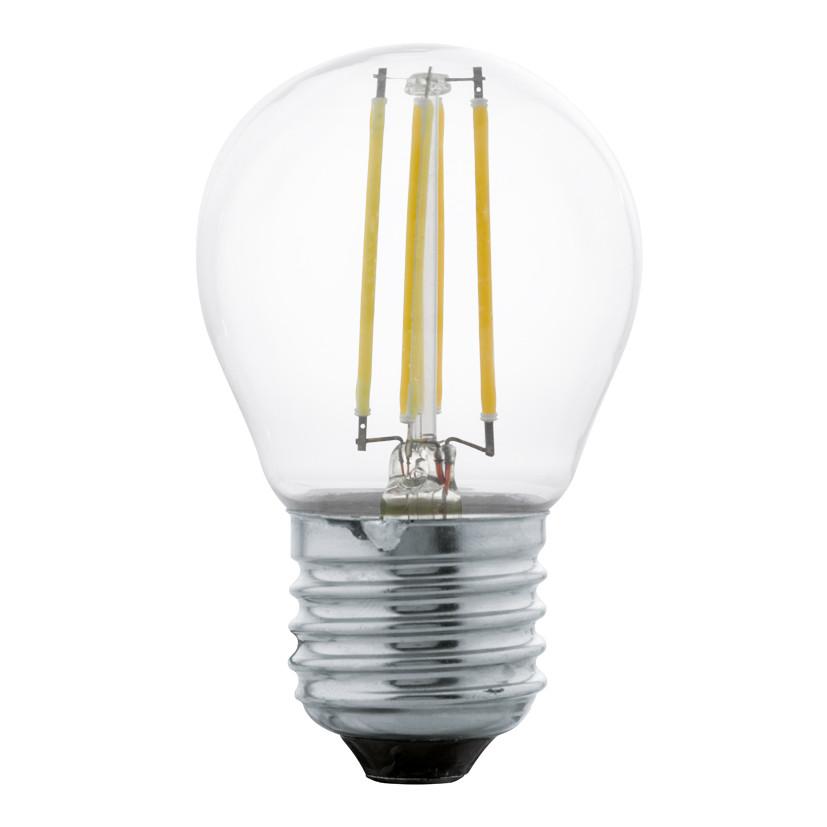 Купить Светодиодная лампа филаментная Eglo G45 E27 4W (соответствует 40W) 350Lm 2700К (теплый белый) 11498
