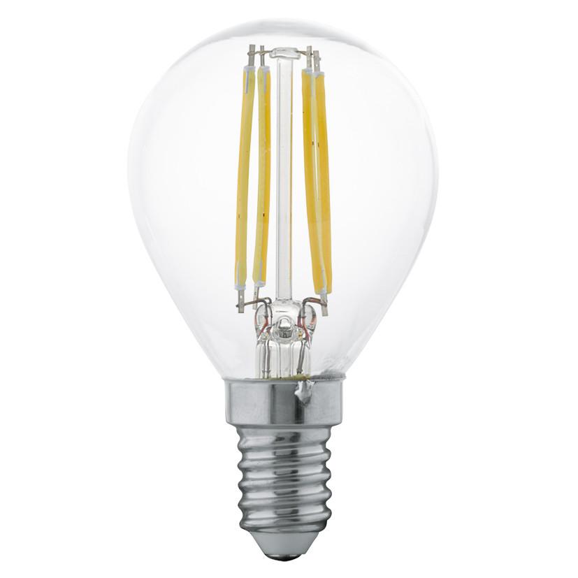 Лампочка Eglo Светодиодная лампа филаментная Eglo P45 E14 4W (соответствует 40W) 350Lm 2700К (теплый белый) 11499 от svetilnik-online
