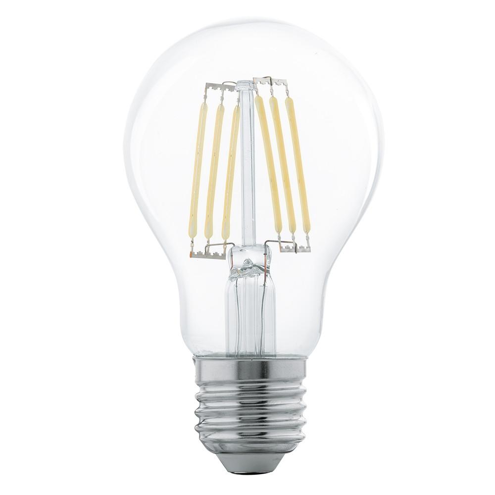 Лампочка Eglo Светодиодная лампа филаментная Eglo 220V A60 (янтарь) E27 5W (соответствует 50 Вт) 600Lm 2700K (теплый белый) 11501 от svetilnik-online