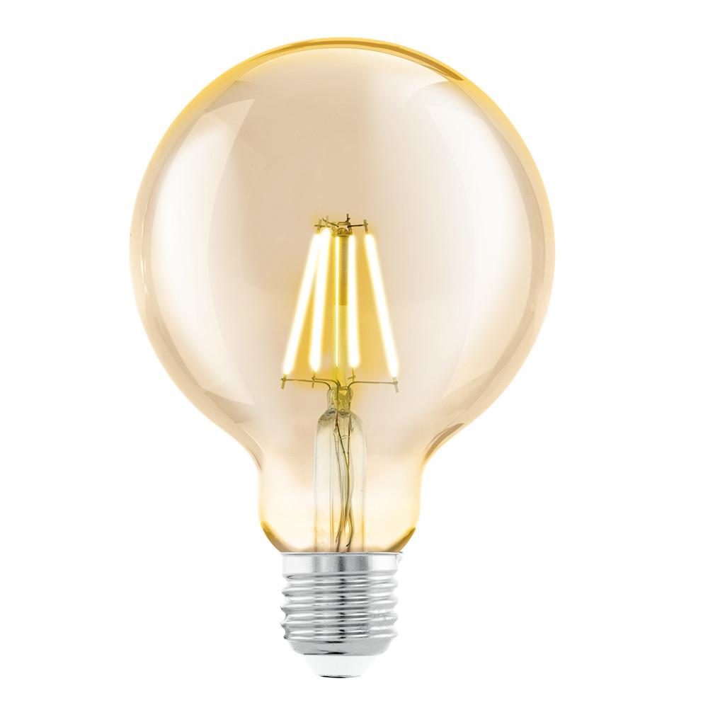 Купить Светодиодная лампа филаментная Eglo G95 (янтарь) E27 4W (соответствует 40 Вт) 330Lm 2200K (желтый) 11522
