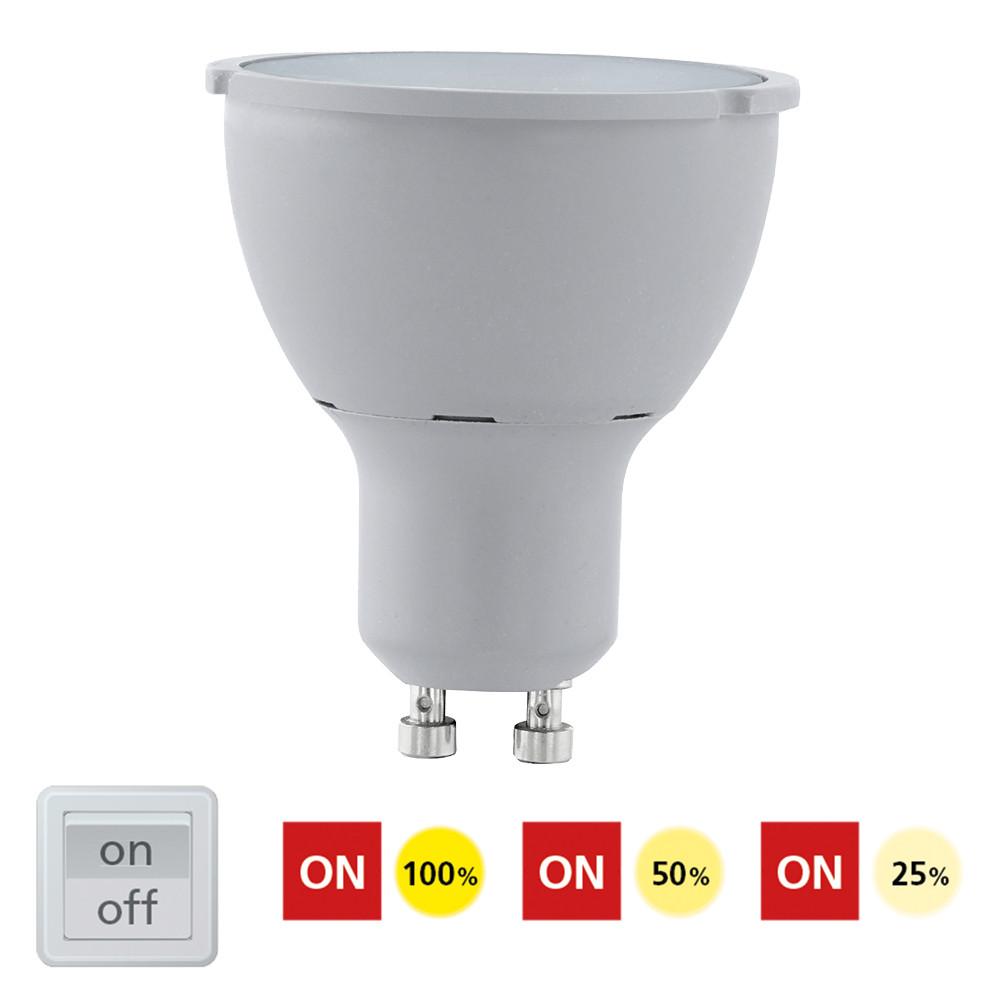 Купить Диммируемая светодиодная лампа Eglo Cob GU10 5W (соответствует 65W) 400Lm 3000К (теплый белый) 11541
