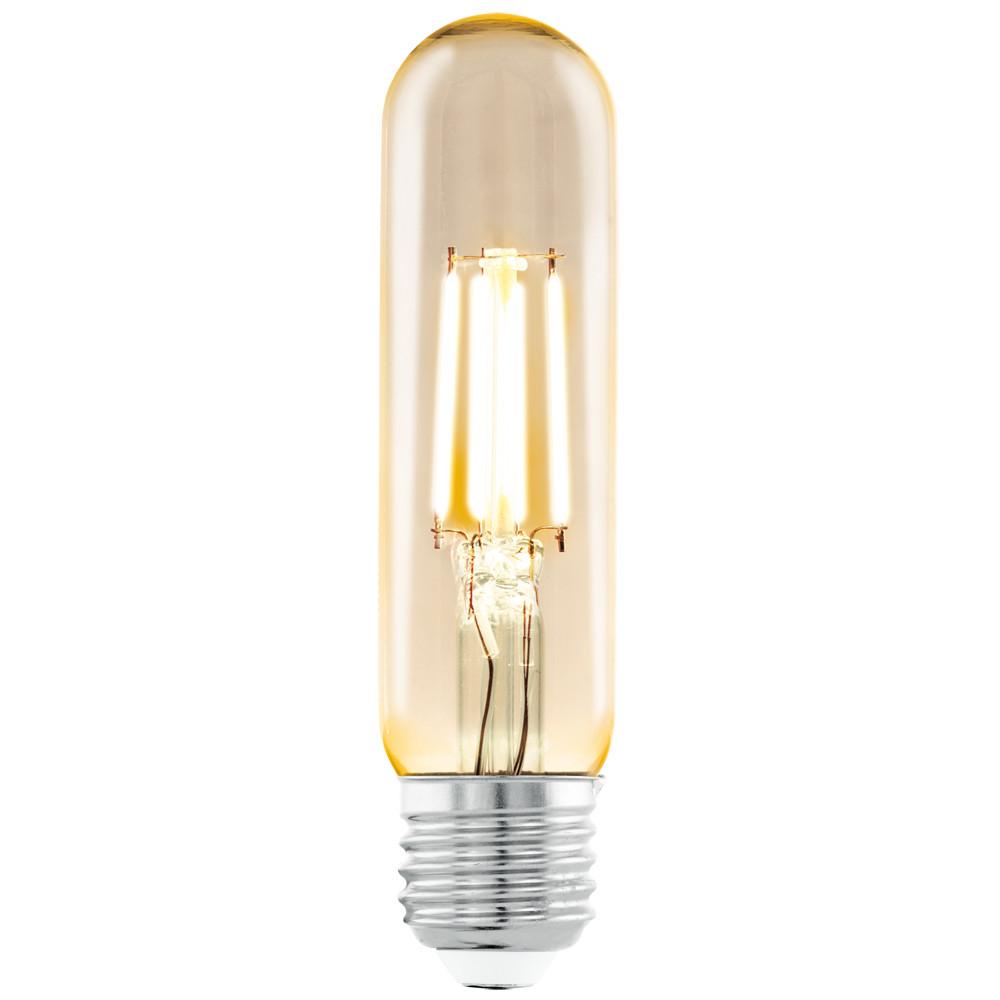 Лампочка Eglo Светодиодная лампа филаментная Eglo T32 (янтарь) E27 3.5W (соответствует 35 Вт) 220Lm 2200K (желтый) 11554 от svetilnik-online