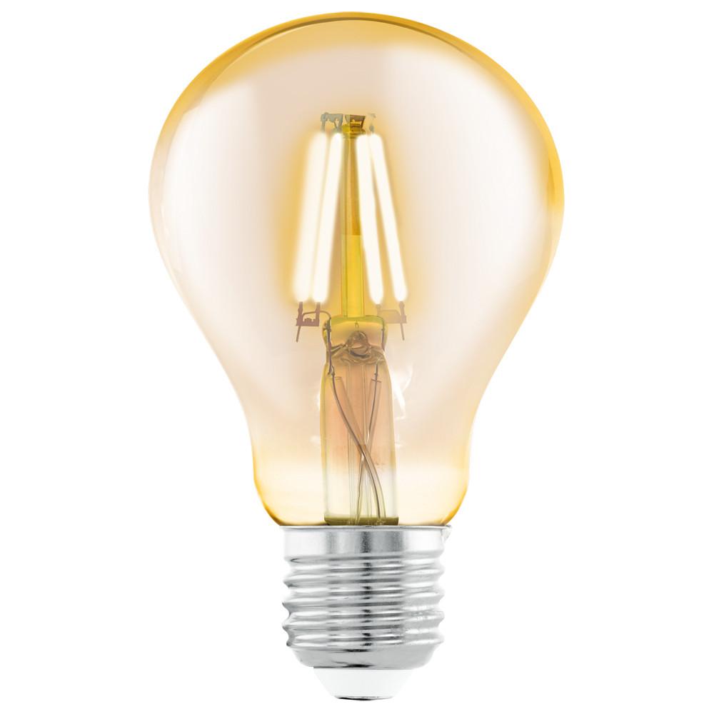 Купить Светодиодная лампа филаментная Eglo 220V A75 (янтарь) E27 4W (соответствует 40 Вт) 320Lm 2200K (желтый) 11555