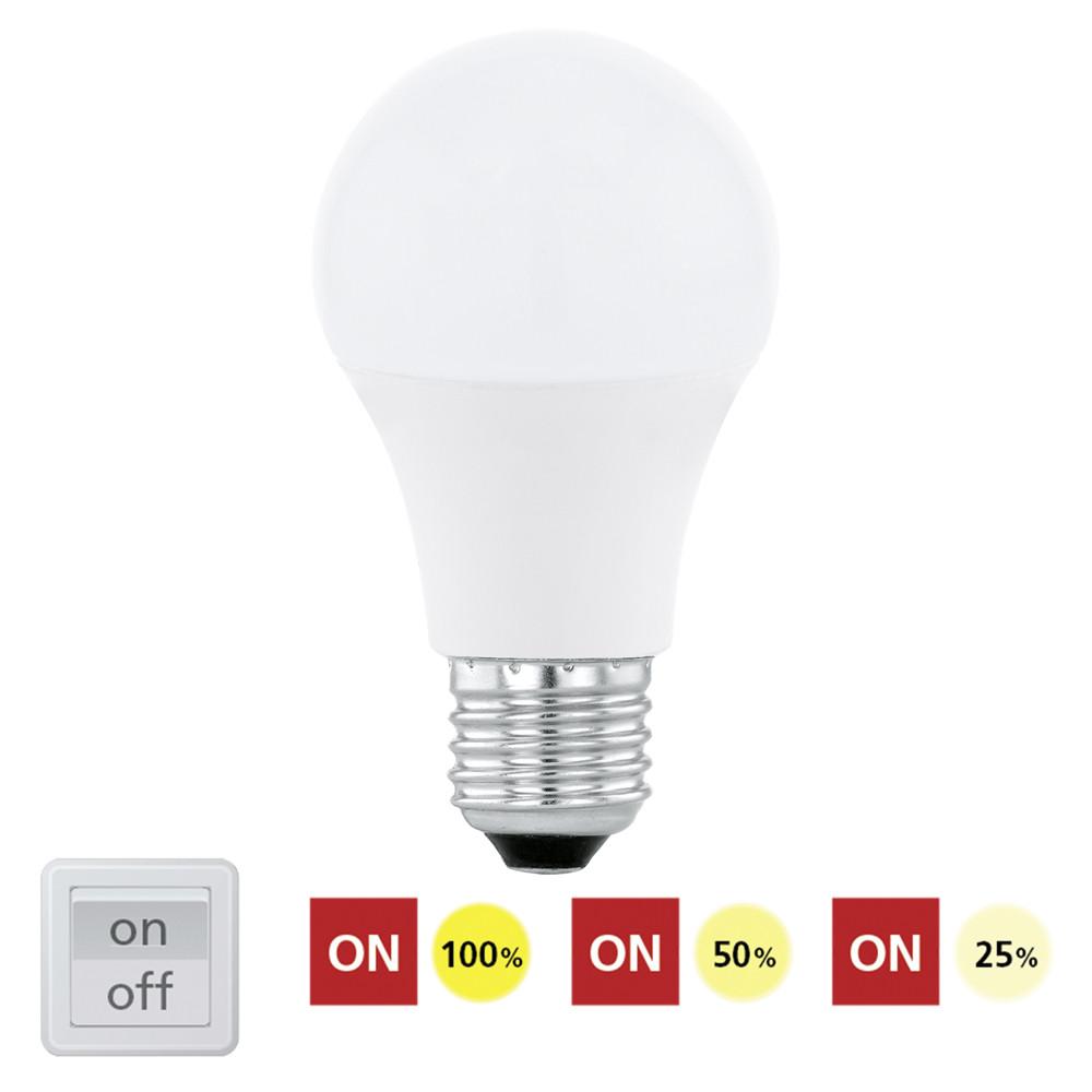 Купить Диммируемая светодиодная лампа Eglo A60 E27 10W (соответствует 100W) 806Lm 3000К (теплый белый) 11561