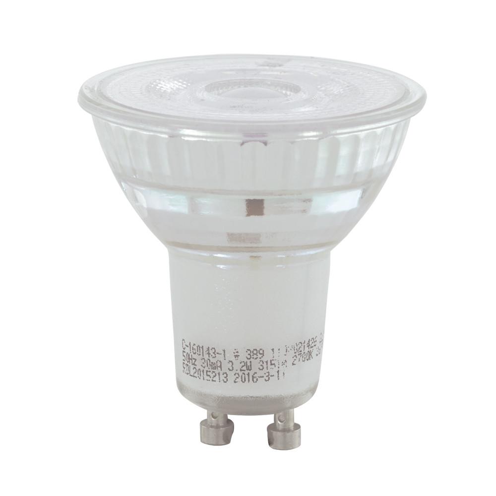 Купить Диммируемая светодиодная лампа Eglo Cob GU10 5.2W (соответствует 52W) 345Lm 3000К (теплый белый) 11575