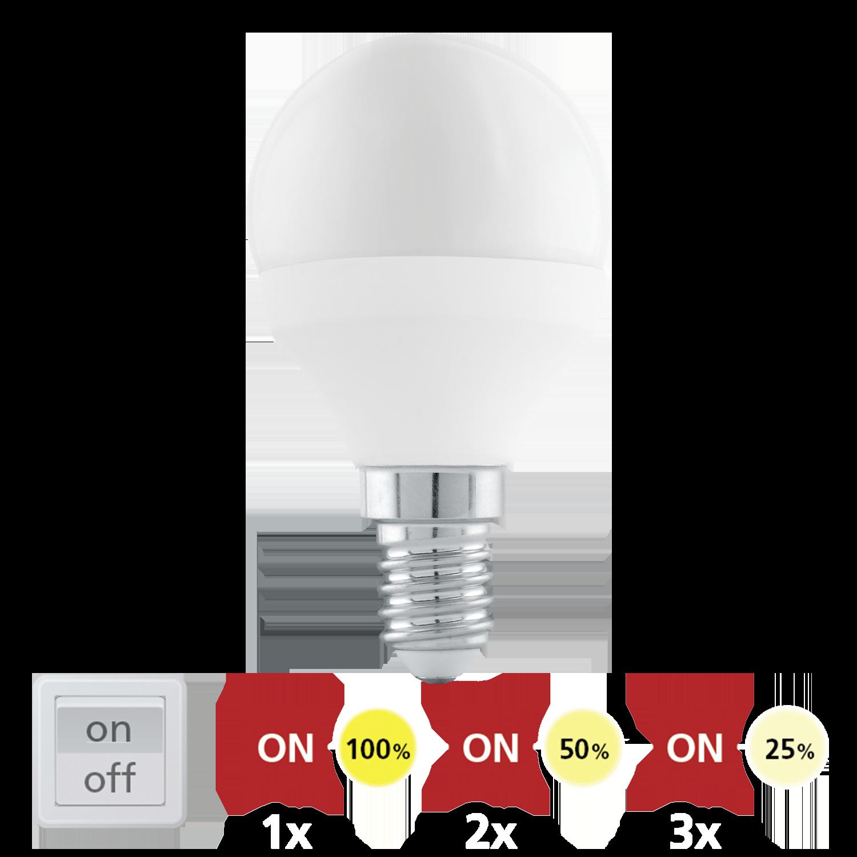 Купить Диммируемая светодиодная лампа Eglo P45 E14 6W (соответствует 60W) 470Lm 3000К (теплый белый) 11583