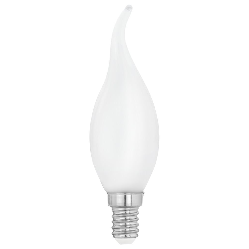 Лампочка Eglo Светодиодная лампа филаментная свеча на ветру Eglo E14 4W (соответствует 40W) 470Lm 2700K (теплый белый) 11603 от svetilnik-online