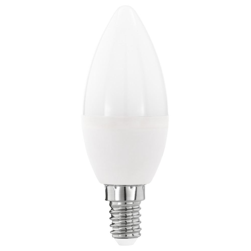 Купить Светодиодная лампа свеча Eglo E14 5.5W (соответствует 55W) 470Lm 3000К (теплый белый) 11643