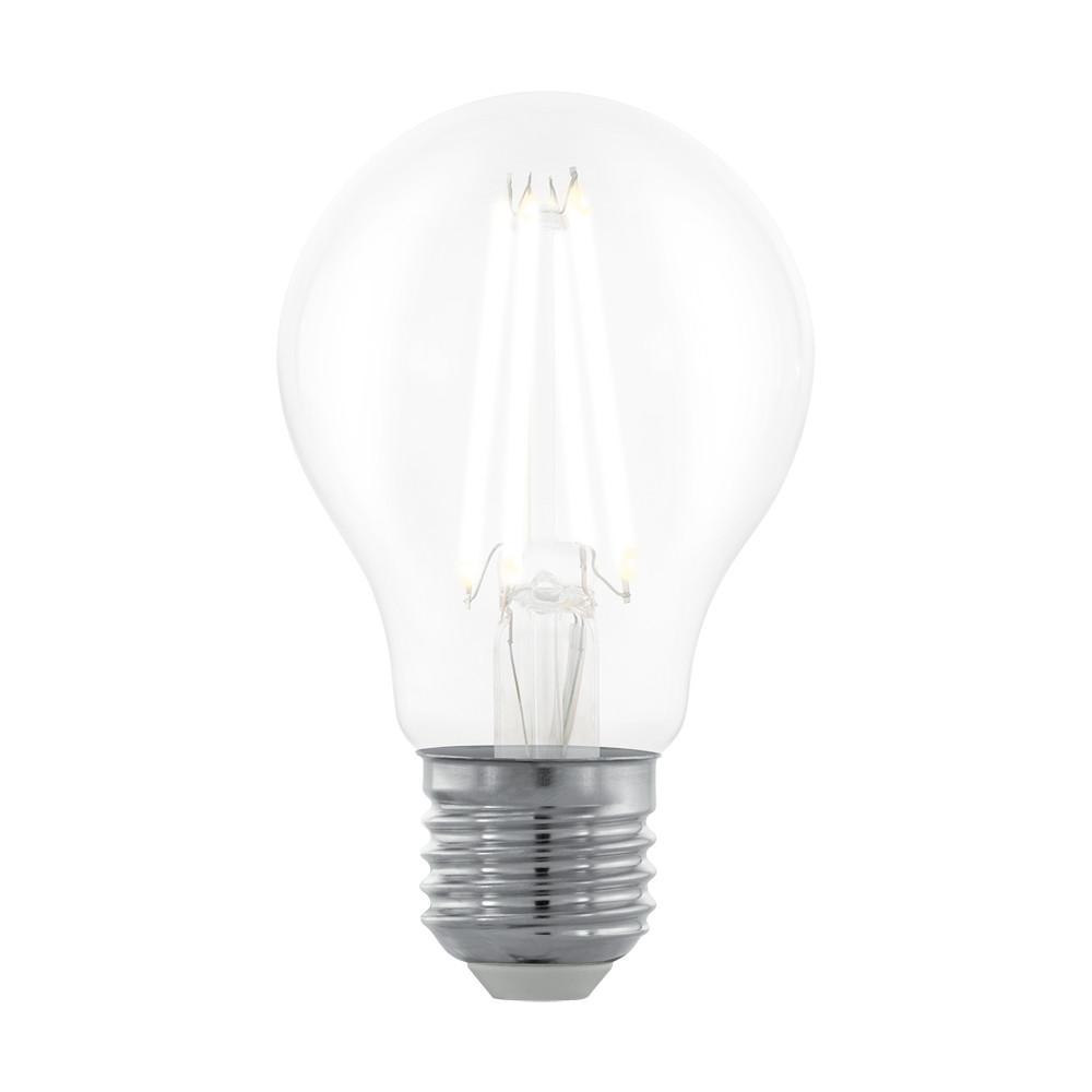 Купить Диммируемая светодиодная лампа филаментная Eglo A60 E27 6W (соответствует 60W) 806Lm 2700К (теплый белый) 11701