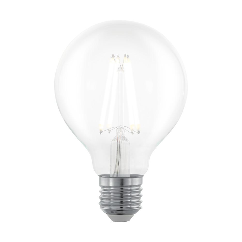 Купить Диммируемая светодиодная лампа филаментная Eglo G80 E27 6W (соответствует 60W) 806Lm 2700К (теплый белый) 11702