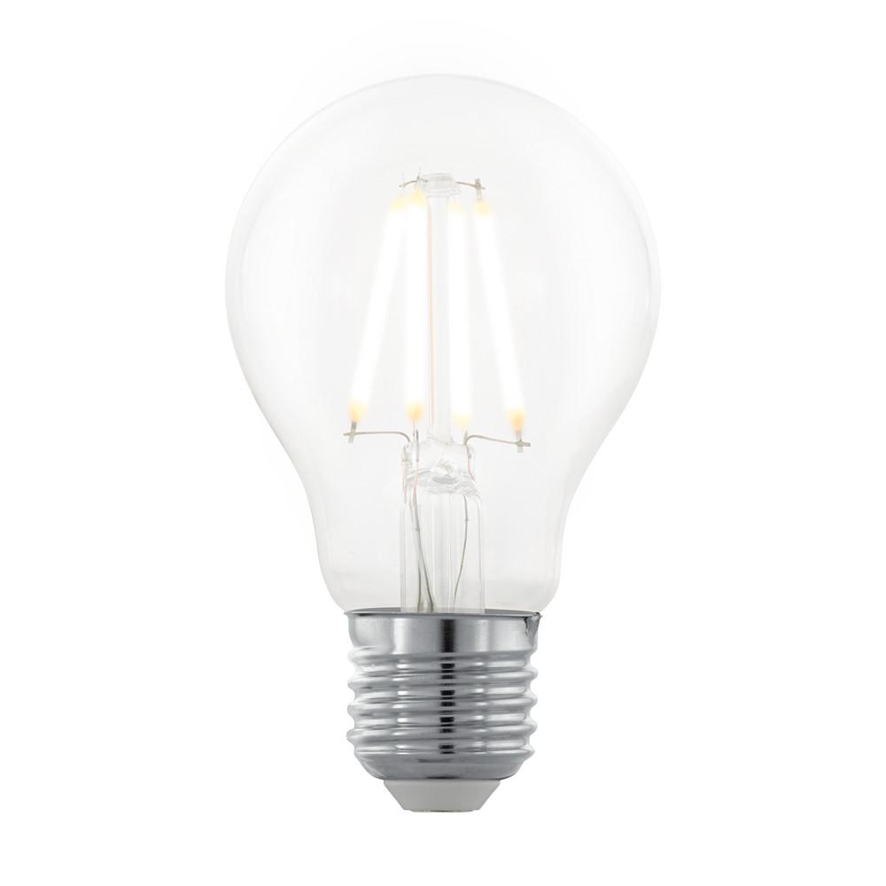 Купить Диммируемая светодиодная лампа филаментная Eglo A60 E27 4W (соответствует 40 Вт) 390Lm 2200K (желтый) 11705