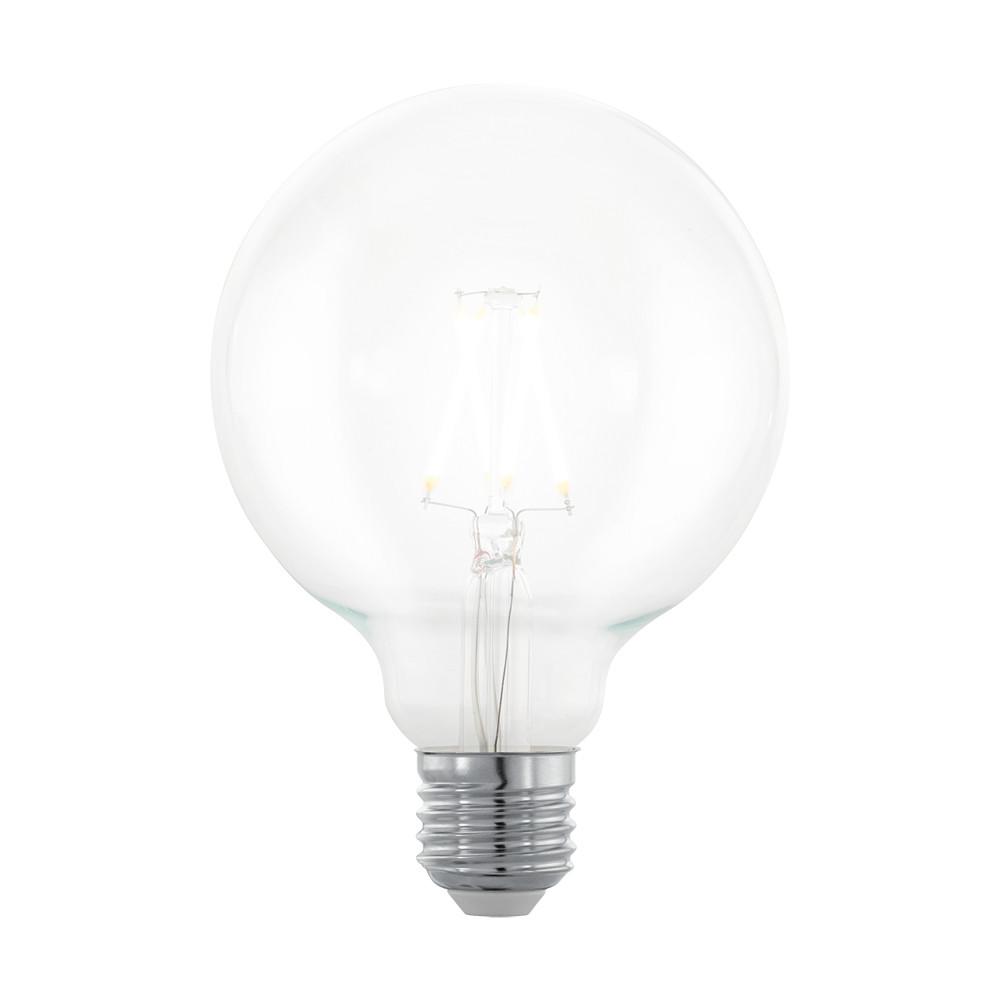 Купить Диммируемая светодиодная лампа филаментная Eglo G95 E27 4W (соответствует 40W) 390Lm 2200К (желтый) 11707