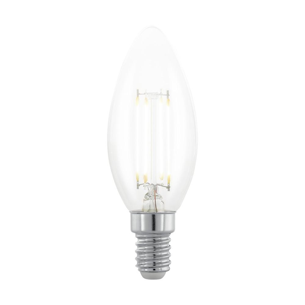 Лампочка Eglo Диммируемая светодиодная лампа филаментная свеча Eglo E14 3.5W (соответствует 35W) 390Lm 2200К (желтый) 11708 от svetilnik-online
