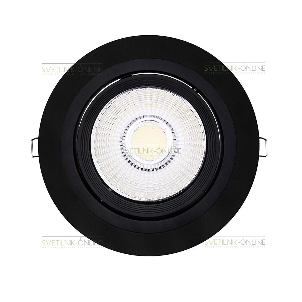 Точечный светильник Lightstar Lightstar Intero 111 Round Черный одна лампа от svetilnik-online