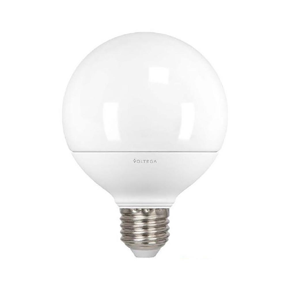 Светодиодная лампа шар Voltega 220V E27 14.4W (соответствует 100 Вт) 1200Lm 4000K (белый) 6954Лампочки<br>Светодиодная лампа шар Voltega 220V E27 14.4W (соответствует 100 Вт) 1200Lm 4000K (белый) 6954<br>