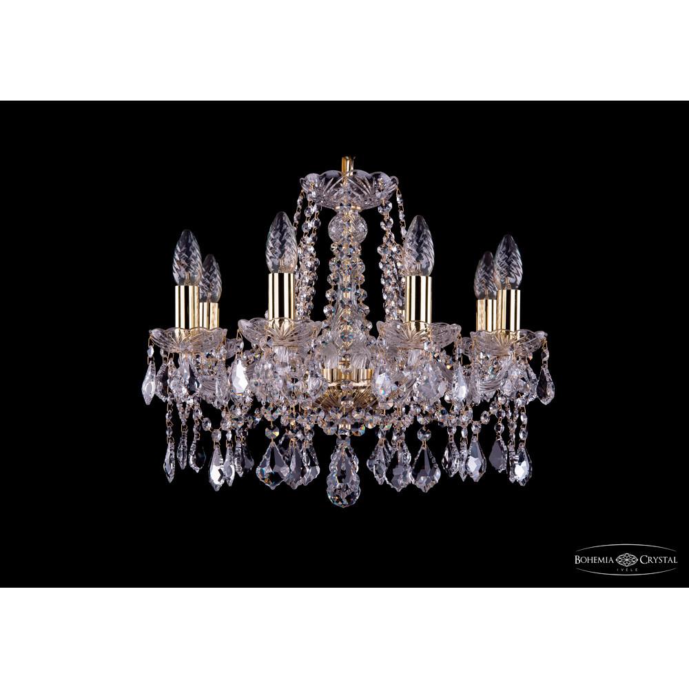 Светильник (Люстра) Bohemia Ivele Crystal 1413/8/165/G/LeafsСветильник (Люстра) Bohemia Ivele Crystal 1413/8/165/G/Leafs<br>