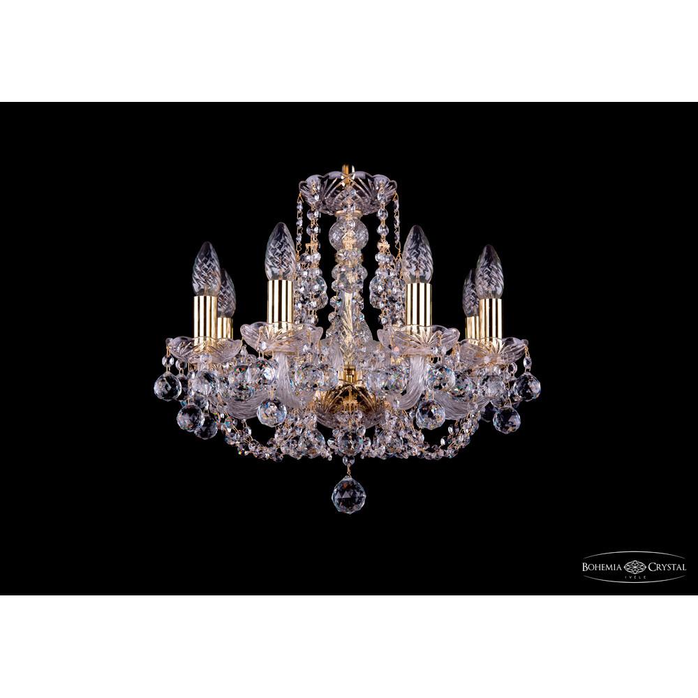 Светильник (Люстра) Bohemia Ivele Crystal 1406/8/141/G/BallsСветильник (Люстра) Bohemia Ivele Crystal 1406/8/141/G/Balls<br>