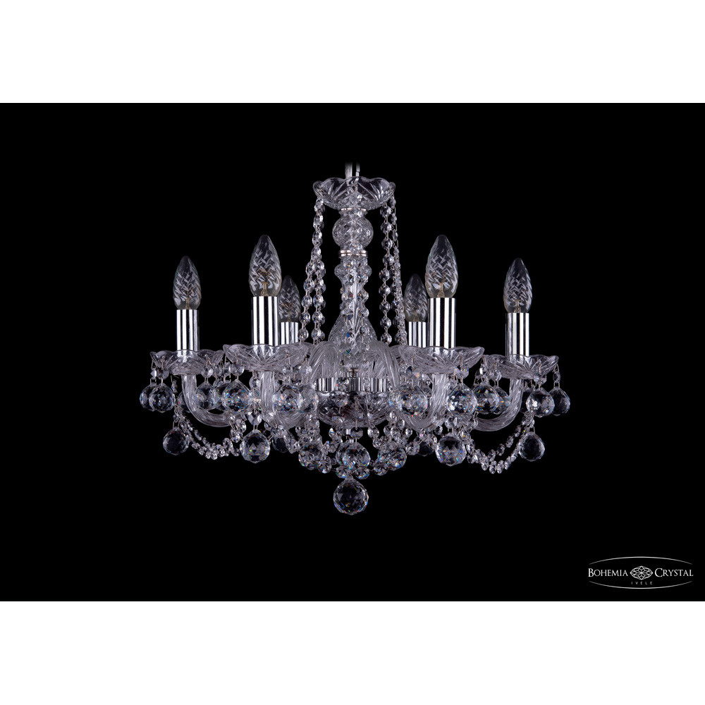 Светильник (Люстра) Bohemia Ivele Crystal 1402/6/160/Ni/BallsСветильник (Люстра) Bohemia Ivele Crystal 1402/6/160/Ni/Balls<br>
