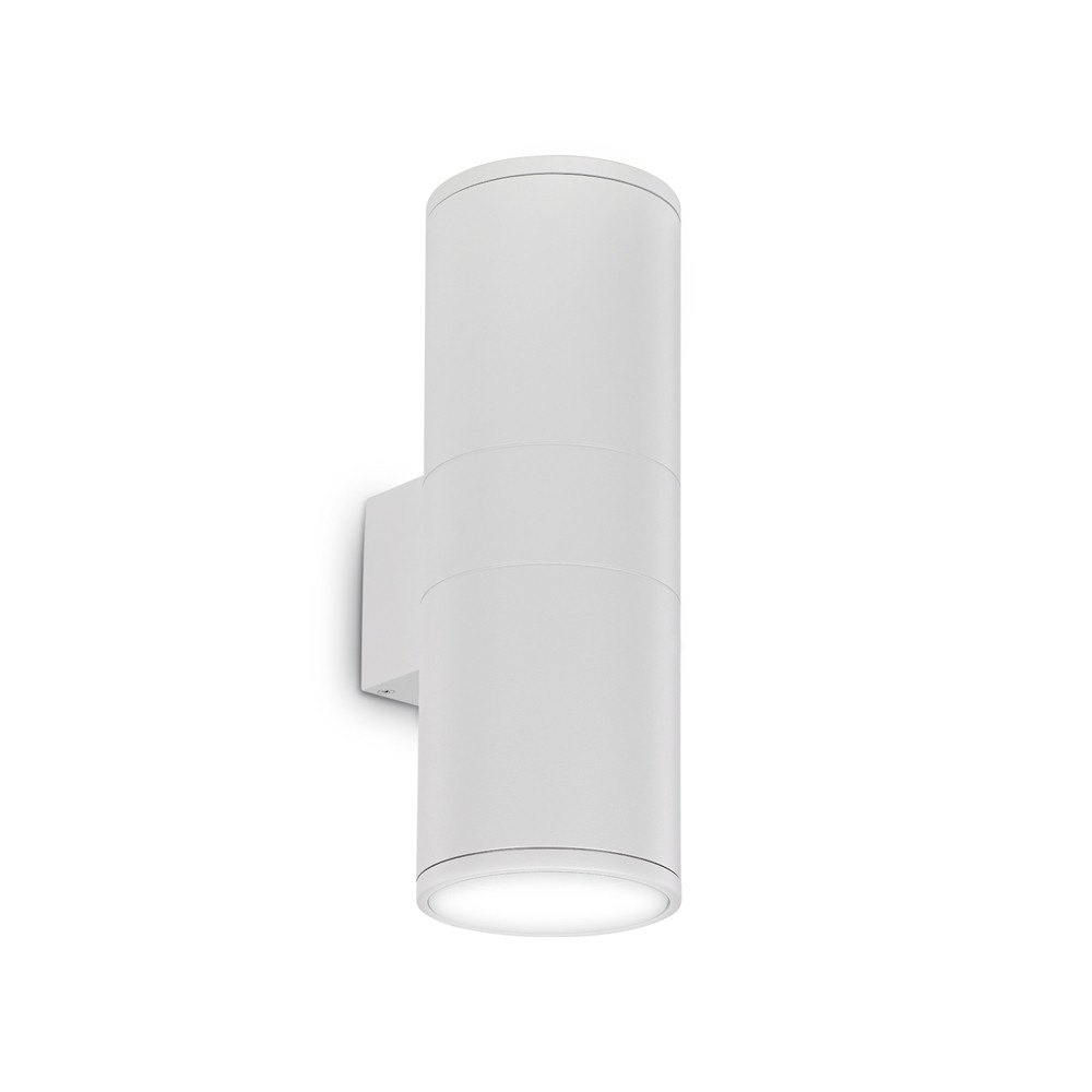 Купить Уличный настенный светильник Ideal Lux Gun AP2 BIG BIANCO