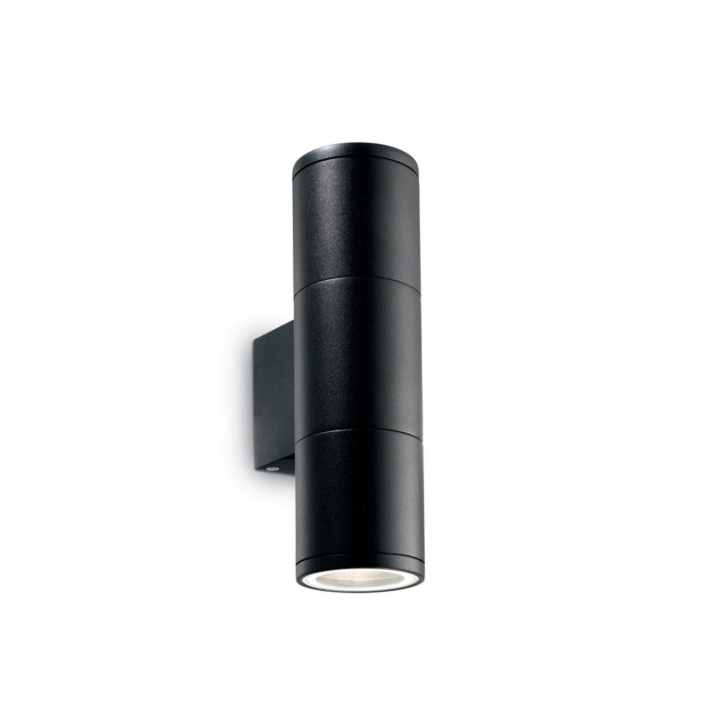 Уличный настенный светильник Ideal Lux Gun AP2 SMALL NEROУличный настенный светильник Ideal Lux Gun AP2 SMALL NERO<br>