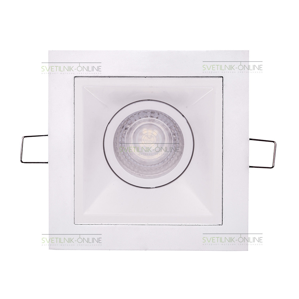 Точечный светильник Lightstar Lightstar Domino Quadro MR16 Белый одна лампа от svetilnik-online