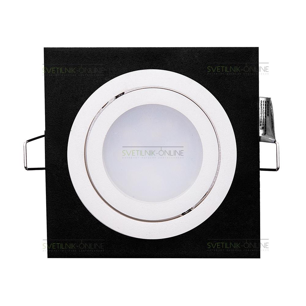 Точечный светильник Lightstar Lightstar Intero 16 Quadro Белый с черным одна лампа от svetilnik-online
