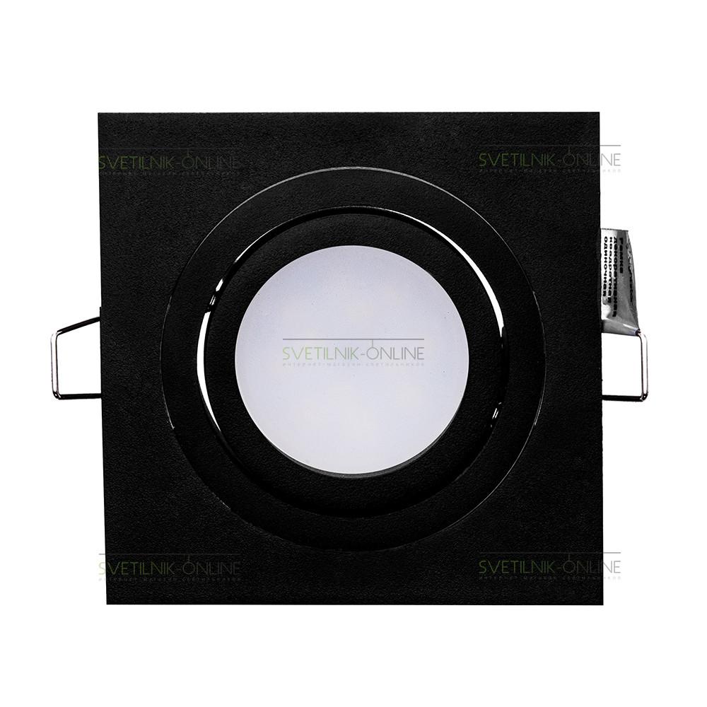 Точечный светильник Lightstar Lightstar Intero 16 Quadro Черный одна лампа от svetilnik-online