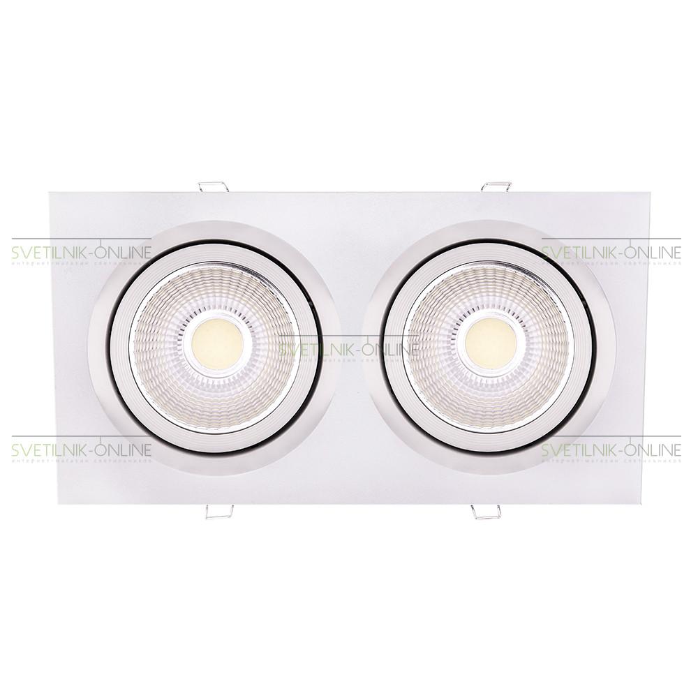Точечный светильник Lightstar Lightstar Intero 111 Quadro Белый две лампы от svetilnik-online