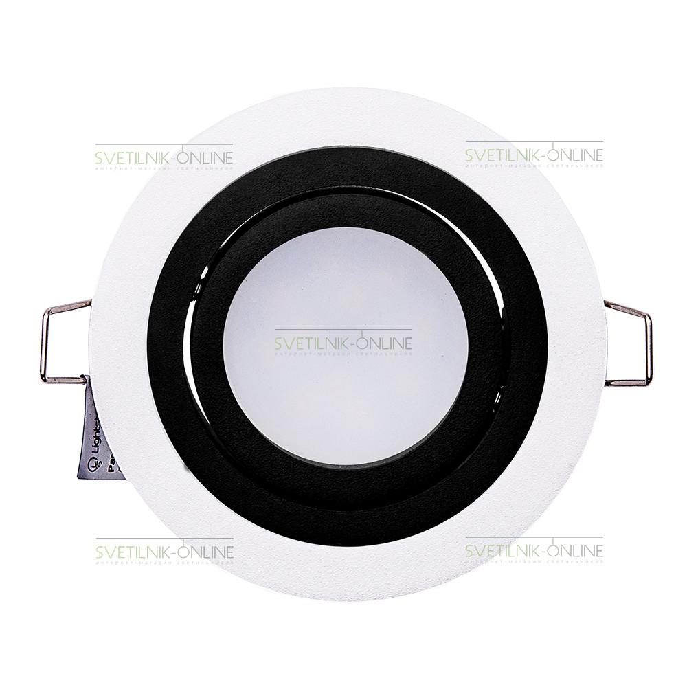 Точечный светильник Lightstar Lightstar Intero 16 Round Черный с белым одна лампа от svetilnik-online