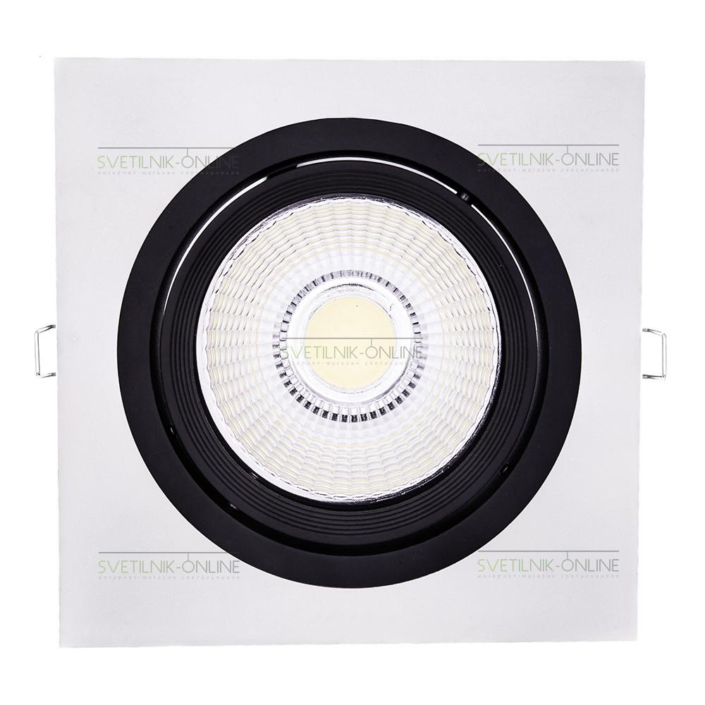 Точечный светильник Lightstar Lightstar Intero 111 Quadro Черный с белым одна лампа от svetilnik-online