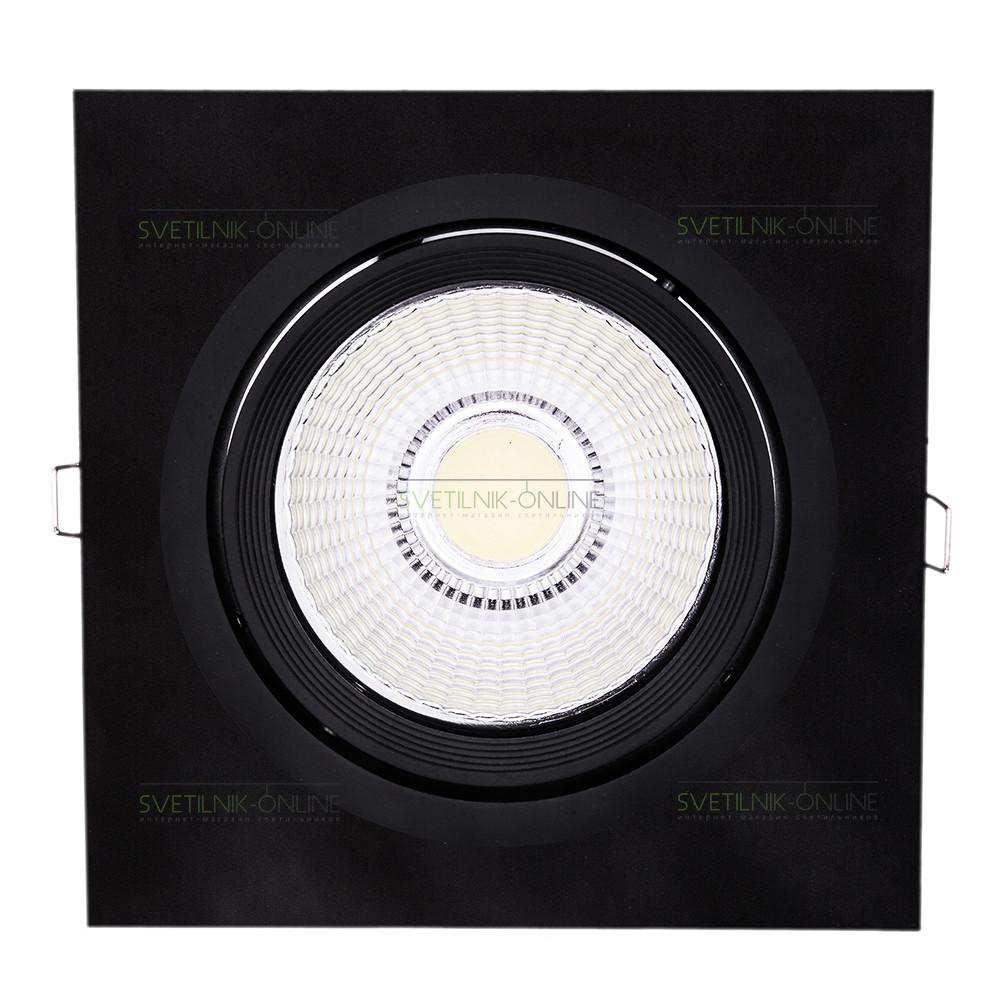 Точечный светильник Lightstar Lightstar Intero 111 Quadro Черный одна лампа от svetilnik-online