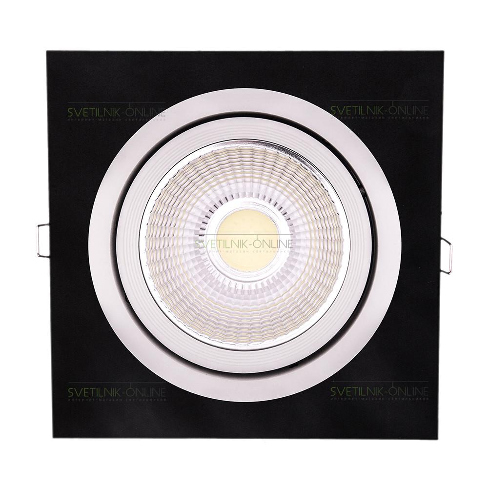 Точечный светильник Lightstar Lightstar Intero 111 Quadro Белый с черным одна лампа от svetilnik-online