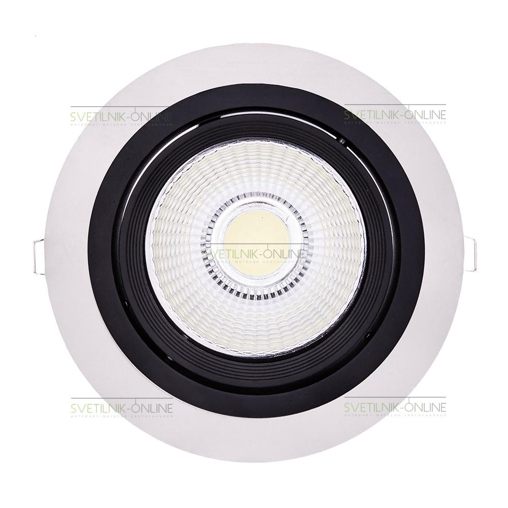 Точечный светильник Lightstar Lightstar Intero 111 Round Черный с белым одна лампа от svetilnik-online