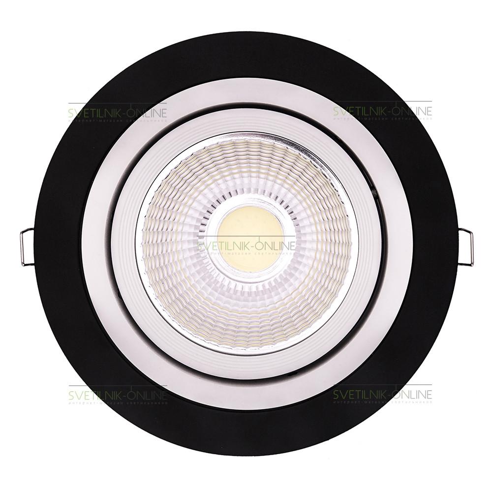 Точечный светильник Lightstar Lightstar Intero 111 Round Белый с черным одна лампа от svetilnik-online
