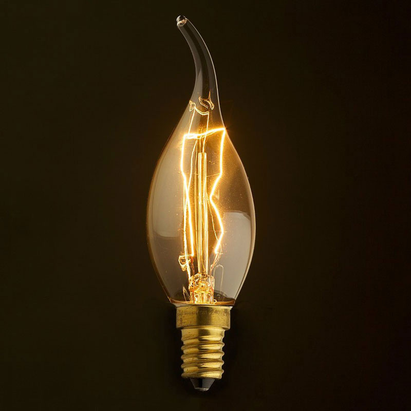 Лампочка Loft It Ретро лампа накаливания (свеча на ветру) Loft It E14 40W 220V 3540-TW от svetilnik-online